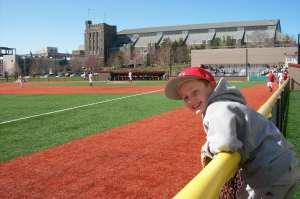 Enjoying some Cornell baseball