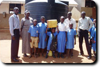 Ugandan Water Project tank